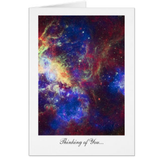 Thinking of You, Tarantula Nebula Stars Greeting Card