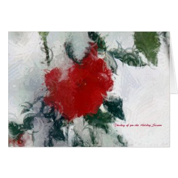 Christmas Themed Thinking of you this Holiday Season by A. Celeste Card