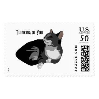 Thinking of You Thoughtful Cat Stamp Postage