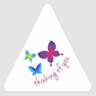Thinking Of You Triangle Sticker