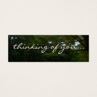 Thinking of You Tropical Rainforest Bamboo Mini Business Card