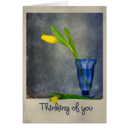 Thinking of You tulips Card