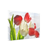 THINKING OF YOU TULIPS STRETCHED CANVAS PRINTS