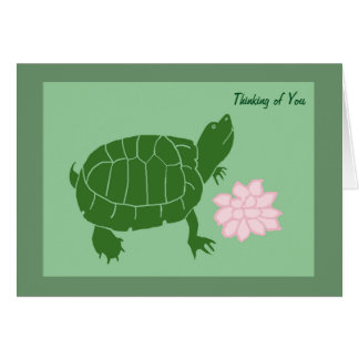 Thinking Of You Turtle Note Cards