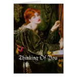 Thinking of you, vintage image greeting card