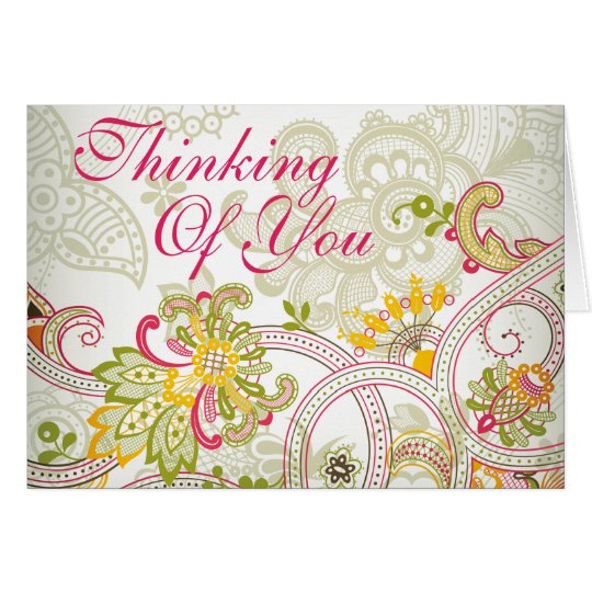 Thinking of You - Vintage India Style Art - 3 Card
