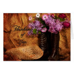 Thinking of You - Western Note Cards Cards