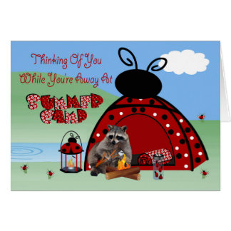 Thinking Of You While You're Away At Summer Camp Greeting Card