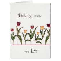 thinking of you, with love, cancer encouragement, card