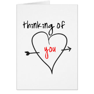 Thinking of you (with love) stationery note card
