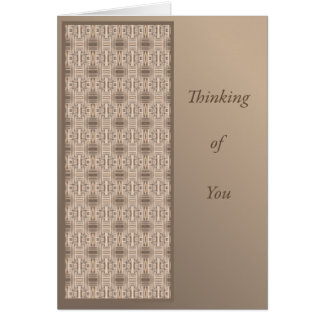 Thinking of You with Terrace Geometric Greeting Card