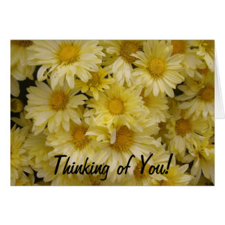 Thinking of You Yellow Mums Card