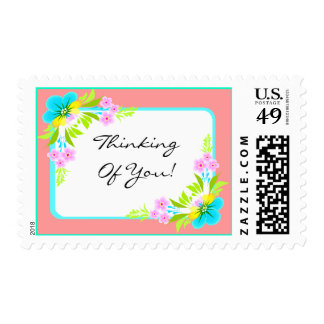 Thinking of Youl Flowers Stamp Stamps Expressions