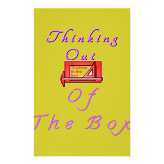 Thinking out of the box. stationery