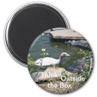 Thinking Outside the Box 2 Inch Round Magnet