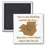Thinking Outside The Box 2 Inch Square Magnet