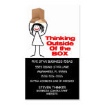 Thinking Outside The Box Business Card Templates