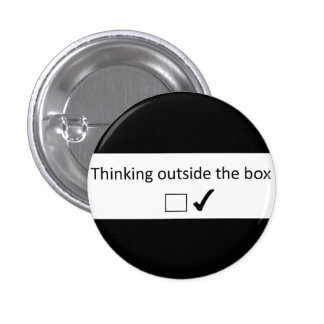 Thinking outside the box. button