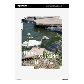 Thinking Outside the Box Decal For iPad 3