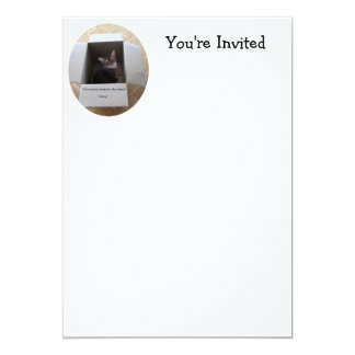 Thinking Outside the Box 5x7 Paper Invitation Card
