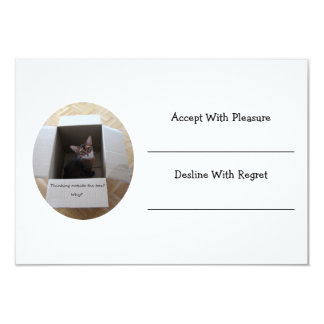 Thinking Outside the Box 3.5x5 Paper Invitation Card