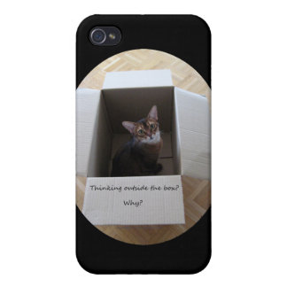 Thinking Outside the Box iPhone 4 Cover