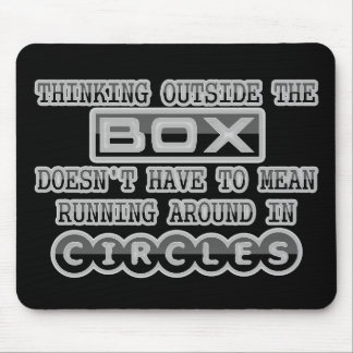 Thinking Outside the Box Mouse Pad