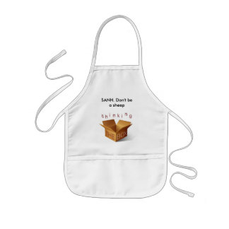 thinking outside the box, SANH. Don't be a sheep Kids' Apron