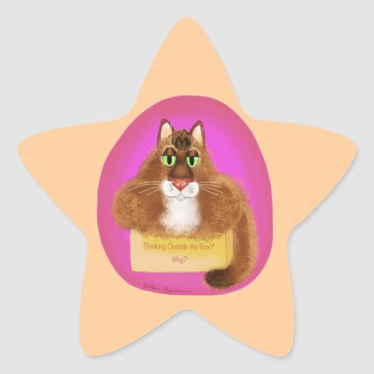 Thinking Outside the Box - Why? Star Sticker