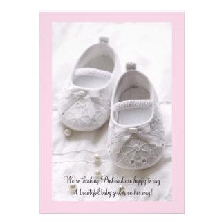 Thinking Pink - Photo Baby Shower Invitation