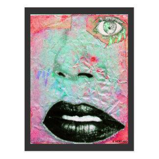 """Thinking Pink"" Postcard"