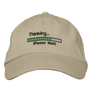 Thinking.... Please Wait Embroidered Baseball Hat