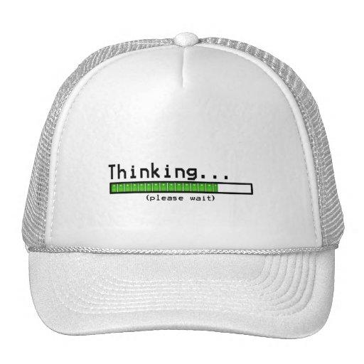 Thinking... Please Wait Mesh Hat