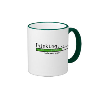 Thinking Please Wait Ringer Mug