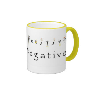 Thinking Positive-Staying Negative Ringer Coffee Mug