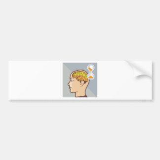 Thinking Process Brain and Sand Clock Bumper Sticker