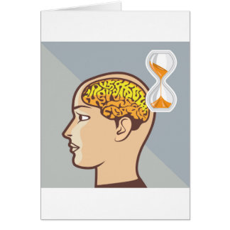 Thinking Process Brain and Sand Clock Card