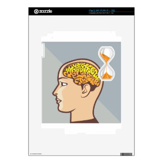 Thinking Process Brain and Sand Clock Decals For The iPad 2