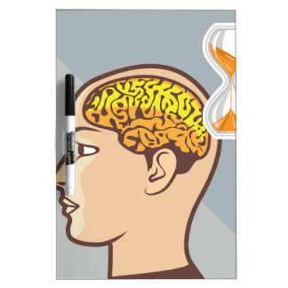 Thinking Process Brain and Sand Clock Dry-Erase Board