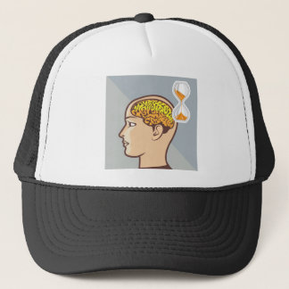 Thinking Process Brain and Sand Clock Trucker Hat