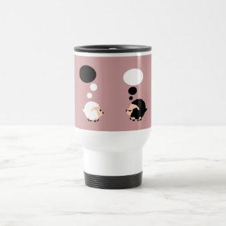 thinking sheep travel mug