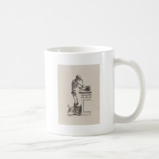 Thinking Skeleton Coffee Mug