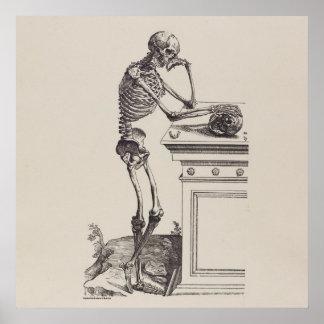 Thinking Skeleton Poster