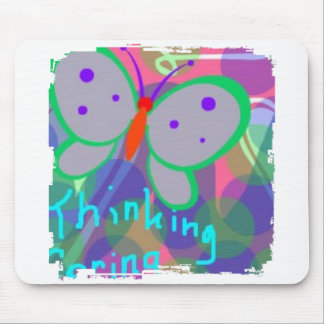Thinking Spring Butterflies Mouse Pad