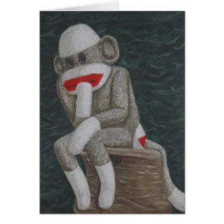 Thinking Thock Monkey Cards