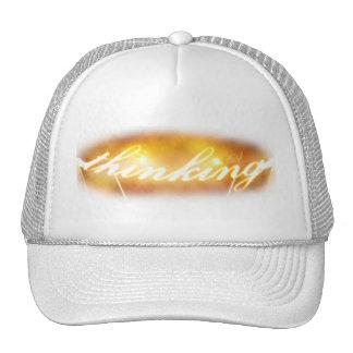 Thinking Trucker Cap (Illustration) Hats
