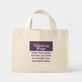 Thinking Wage Mini Tote Bag