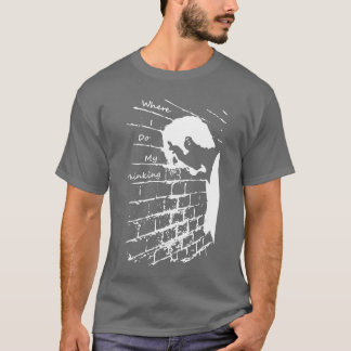 Thinking Wall white decal T-Shirt