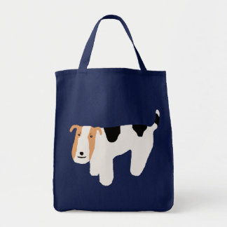 Thinking Wire Fox Terrier Tote Bag