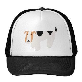 Thinking Wire Fox Terrier Trucker Hat